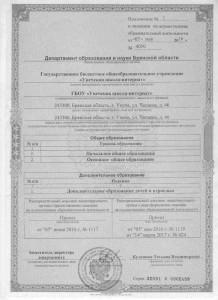 Лицензия по программам дополнительного образования